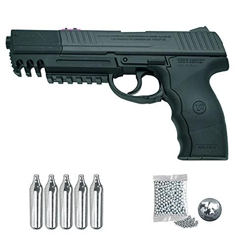 Pistola 3030 - W3000 Long Barrel WG | Pistola de balines (Bolas bb's de Acero) y CO2 semiautomática + munición + CO2