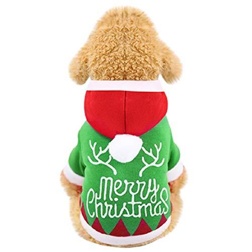 Bluelucon hondenpullover winter voor kleine honden huisdieren kleding Kerstmis met capuchon winterjas Kerstmis kostuum hondenjas Pet Supplies pullover met capuchon