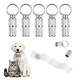 tiopeia 6 Stück Adressanhänger für Hunde Katzen, ID Tag Hundemarke Tiermarke mit Schlüsselringe...