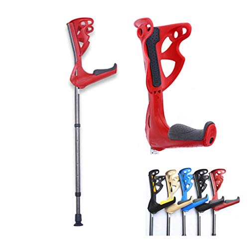 ZHANGSHOP Forearm Crutches with Adjustable Support, Ergonomic Comfortable Wrist Handle, Heavy Duty for Standard and Tall Adults, All-Terrain Ultralite Non-Slip Rubber Tips
