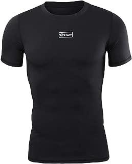 LEXUPA men's t-shirts classic crew neck Mens Fitness Short Sleeves Rashguard T-Shirt Bodybuilding Skin Tight-drying Tops