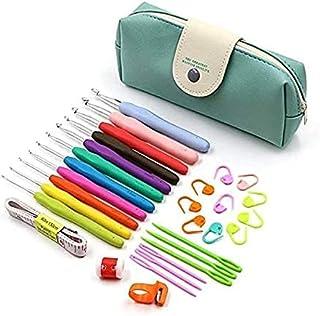 Knitting Crochet Needles 41PCSHooks Tools Set Kit with Case for Craft Lover Knitting Enthusiasts Beginner Starter Learner