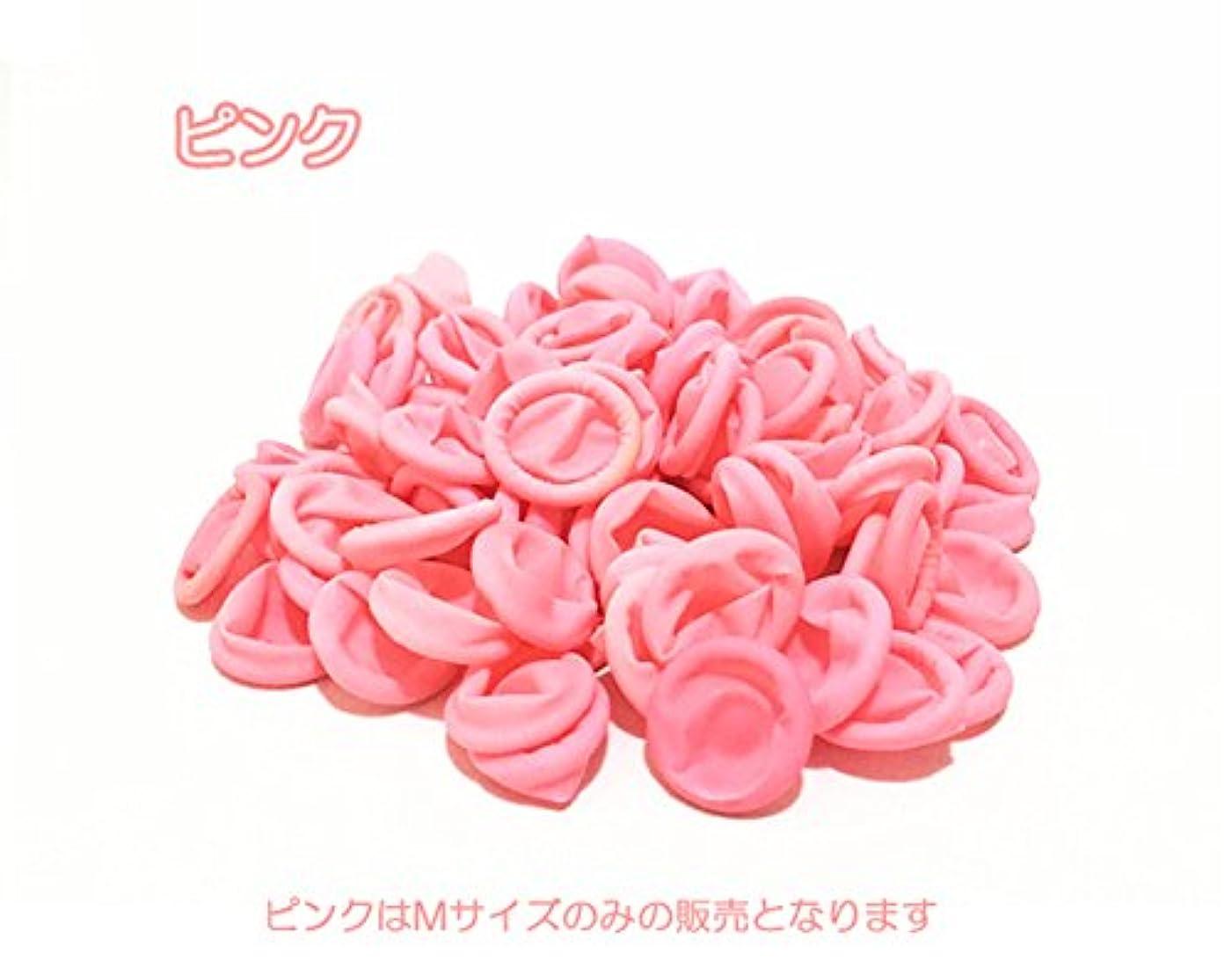 突破口卵固体ネイルフィンガーキャップ☆ジェルネイルオフ用【100個入り】 (3#ピンクM100個)