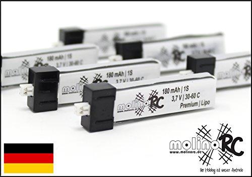 molinoRC 6X BRD * !! 180mah 1s !! 30C-60C Lipo 13% mehr als Turnigy Nano-TECH 1S 3,7V 160mAh 20% mehr als E-Flite 1S 3,7V 150mah Li-Po Akku Lipo EFLB 1501S25