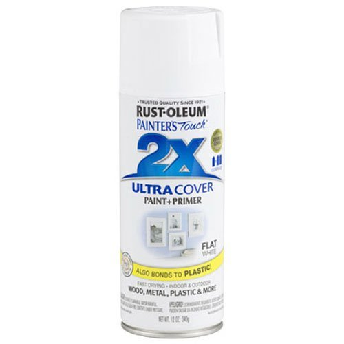 Rust-Oleum 249126 Painter's Touch 2X Ultra Cover, 12 Oz, Flat White