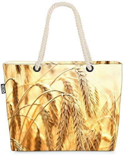 VOID Cereales de Trigo Bolsa de Playa 58x38x16cm 23L Shopper Bolsa de Viaje Compras Beach Bag Bolso
