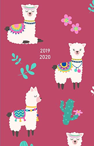 2019 - 2020: 18 Month Academic Planner from JULY 2019 through DECEMBER 2020 with yearly overviews, monthly calendars and weekly 2-page horizontal ... week) - Cute Design of Llama with Cactus