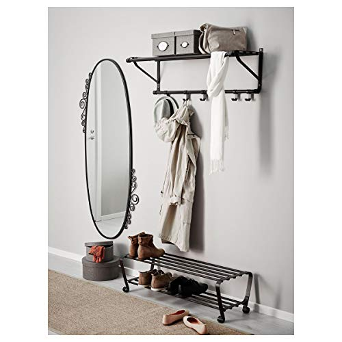 IKEA PORTIS zapatero 90x34x28 cm negro