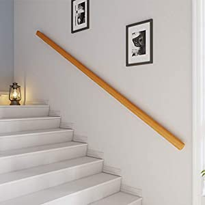 Handrails Wall-Mount with Complete Set, Against The Wall Hand Grab Rail for Nursery Nursing Home, Non-Slip Woodn Banister