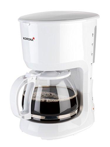 Korona 10331 Kaffeemaschine weiss – Filter-Maschine, Glas, 10 Tassen, 750 Watt
