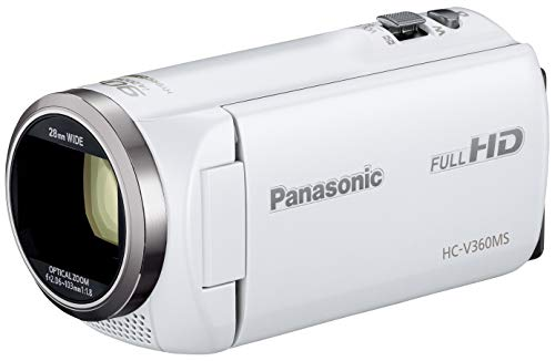 Panasonic HDビデオカメラ V360MS 16GB 高倍率90倍ズーム ホワイト HC-V360MS-W