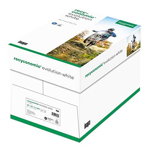 inapa Recycling-Papier, Druckerpapier Recyconomic evolution white, 80 g/m ², A4, 5x500 Blatt, weiß