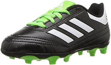 adidas Performance Kids' Goletto VI J Firm Ground Soccer Cleats, Black/White/Sgreen, 13 Medium US Little Kid