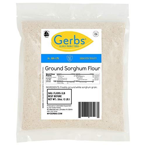GERBS Sorghum Flour, 16 ounce Bag, Top 14 Food Allergen Free, Keto, Vegan, Non GMO
