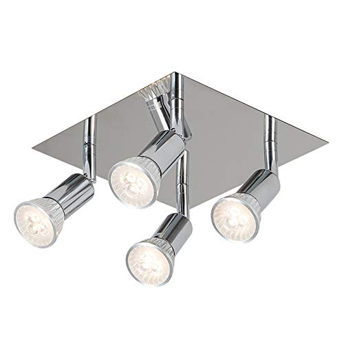 OUKANING Lámpara de Techo LED giratoria Gu10 Lámpara de Techo LED Blanca cálida Sala de Estar Moderna Punto de Techo LED