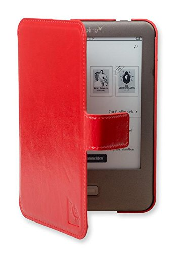 Gecko Covers Tolino Shine Slimfit beschermhoes - rood