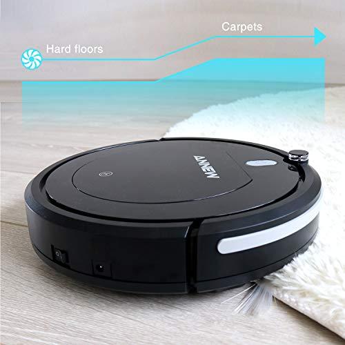 ANNEW Aspirateur Robot Machine Nettoyage avec télécommande 3 Modes de Nettoyage antichute Filtre...