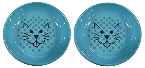 Van Ness Ecoware Cat Dish, 8-Ounce, (2 Pack), Assorted Colors