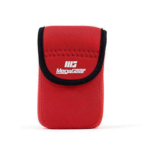 MegaGear MG754 Canon PowerShot Ultraleichte Kameratasche aus Neopren, mit Karabiner Haken rot