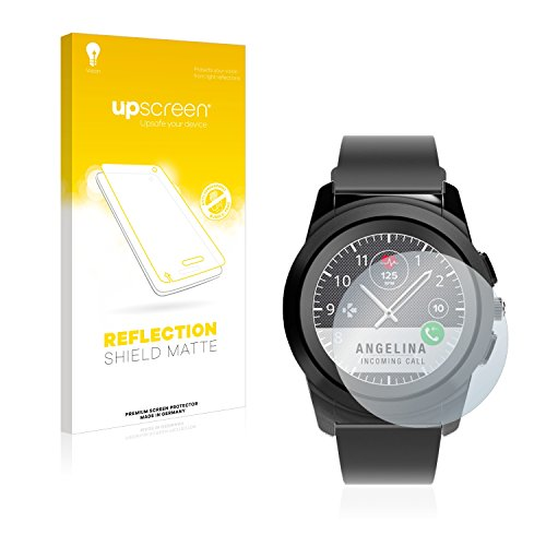 upscreen Entspiegelungs-Schutzfolie kompatibel mit MyKronoz ZeTime Regular (44 mm) – Anti-Reflex Bildschirmschutz-Folie Matt