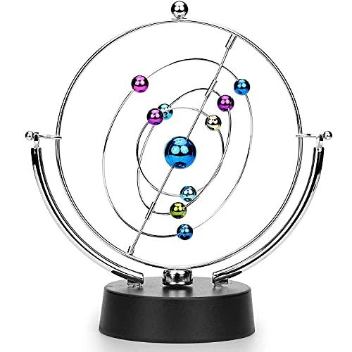 PDXGZ Movimiento perpetuo electrónico, cinético Asteroide eléctrico Wiggler Swingball Decoración de Escritorio Arte Escritorio de Oficina Decoración del hogar
