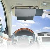 Car Visor Sunshade, WANPOOL Car Visor Anti-glare Sunshade Extender for Front Seat Driver or Passenger - grey - 1 Piece