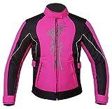 Warrior Gears® - Chaqueta de moto para mujer   CE blindado   Impermeable para la lluvia Biker Moto Riding Chaquetas de moto para mujer
