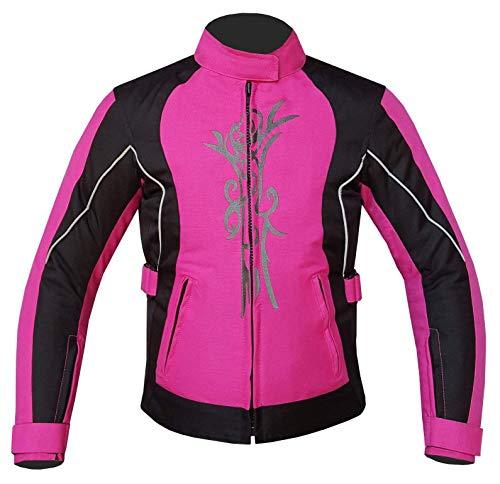 Warrior Gears® - Chaqueta de moto para mujer | CE blindado | Impermeable para la lluvia Biker Moto Riding Chaquetas de moto para mujer