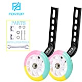 FORTOP Bike Training Wheels Heavy Duty Rear with Stabilizers Mounted Kit for Kids Boy Girls Distinctive Colorful Bicycle Training Wheels of 12 14 16 18 20 Inch (Light Version)