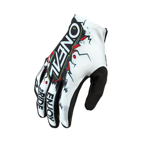 O'NEAL | Fahrrad- & Motocross-Handschuhe | Kinder | MX MTB DH FR Downhill Freeride | Langlebige, Flexible Materialien, belüftete Handoberseite | Matrix Youth Glove Villain | Weiß Multi | Größe S