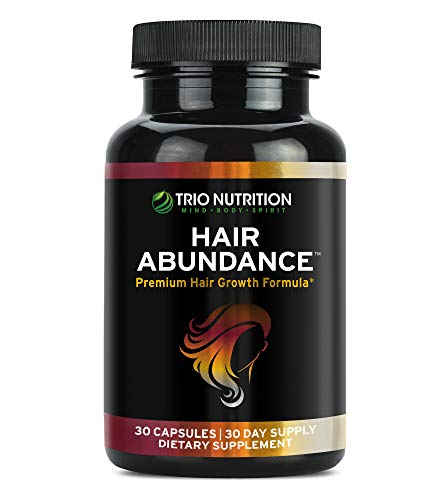 Biotin 10,000mcg - Hair Vitamins for Hair Growth | Hair Abundance is a Hair Treatment Supplement Pill Boosted with Fresh Collagen, Keratin, Bamboo - Thicker Eyelashes for All Hair Types Women & Men*