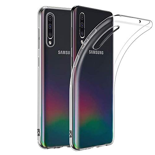 Amonke Transparent Kompatibel mit Samsung Galaxy A50 Hülle Silikon Durchsichtig Handyhülle TPU Dünn Stoßfest Fallschutz Bumper Slim Hülle Cover Schutzhülle für Samsung A50 6,4''