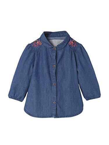 Vertbaudet Vertbaudet Jeanshemd für Baby Mädchen, Reine Baumwolle Blue Stone 68