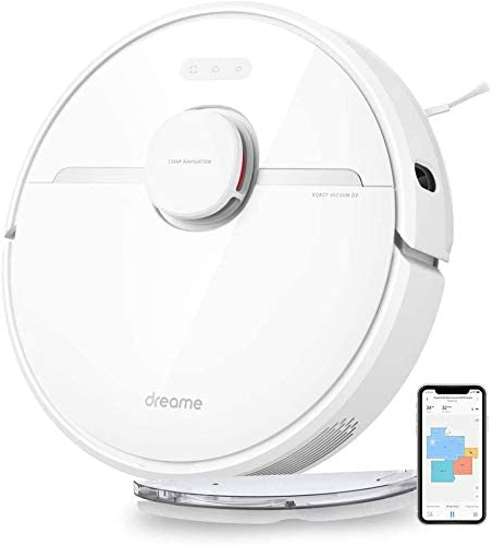 Dreame D9 Robot Aspirateur Laveur 2 en 1, Alexa, Wi-FI, avec Navigation Intelligente, 3000 Pa Puissance d'Aspiration, Silencieux, Poils d'animaux,...