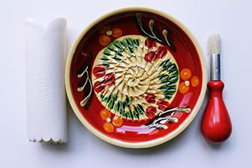JOSKO Produkte 2732 rote Wiese Reibeteller Set, Keramik