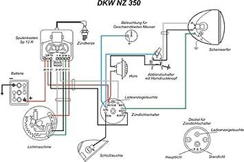 wiring harness for dkw nz 350 + wiring diagram : amazon.de: automotive  amazon
