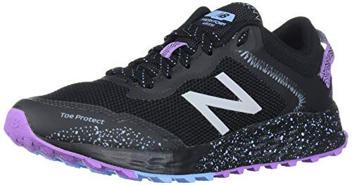 New Balance Women's Arishi V1 Fresh Foam Trail Running Shoe, Black/Purple/NEO Violet, 8.5 B US
