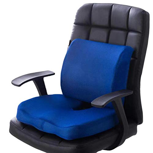 N / A Orthopädisches Sitzkissen mit Gel, Memory Foam Stuhlkissen zur Steißbein-Entlastung für Büro, Home Office, Rollstuhl & Auto
