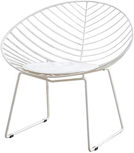 G.S.N. GSN Bequeme Sitz verbessert den Komfort Abnehmbare Pu Mat Rahmen Mesh-Design-Kundenservice Hocker Empfang Bügeleisen Sessel (Color : White)