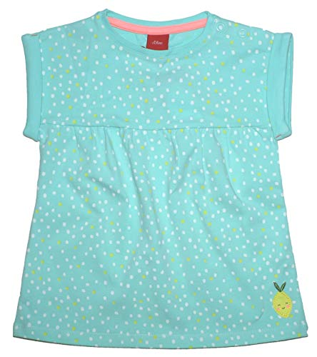s.Oliver Locker sitzendes Tunika Shirt in hellem Mint mit kleinen Punkten Allover Baby 5656 (74)
