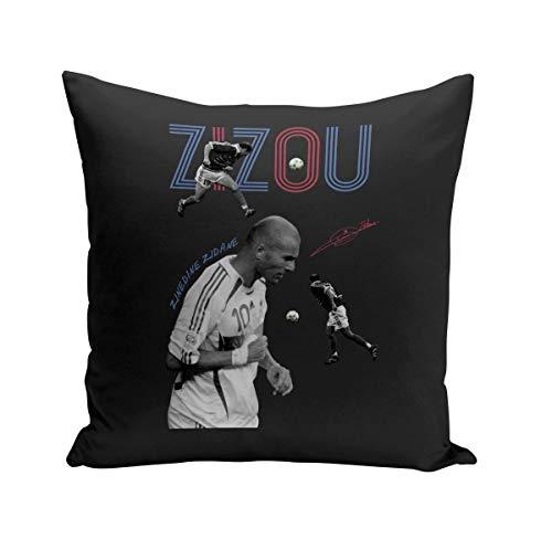Coussin 40x40 cm Zidane Zizou Vintage Footballeur Foot Star