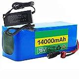 FREEDOH Batterie Li-ION 36V 14000mAh pour Vélo électrique Batterie Au Lithium-ION 18650 Convient Aux Modèles Réduits Avions Et Aux Outils électriques, Etc. avec Carte BMS Et 1 Chargeur 2A