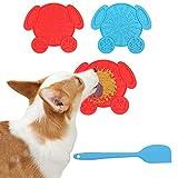 Almohadilla para lamer perros, 2 piezas de silicona de grado alimenticio para mascotas, tazón de alimentación lento, alfombrilla de baño para perros con potente ventosa