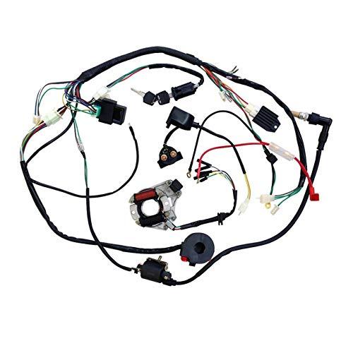 XIAOFANG Cableado de Electricidad Completa Ajuste for CDI Bobina 50cc 70 110cc ATV Quad Bike Buggy Go Kart