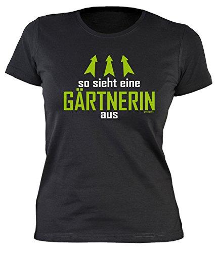 Garten Gartenkleidung Print Damen T-Shirt Hobbygärtner Gartenfreunde So Sieht eine GÄRTNERIN aus Ostergeschenke Gartler Gartenarbeit Sprüche Geschenke Bedruckt Gr. XL :