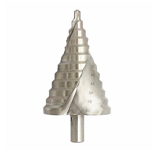 LEXPON Broca profesional escalonada en espiral HSS, broca en cono escalonada, perforación...