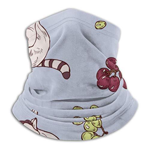 Calentador de cuello de microfibra, tubo de polaina, calentador de orejas, máscara facial de mapache divertido, máxima retención térmica