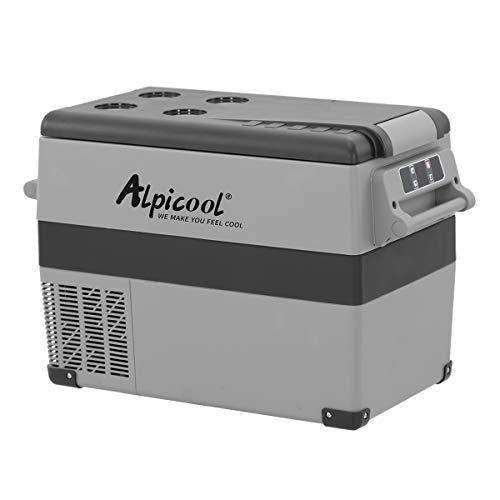 Alpicool CF45 45 Litros Nevera Portátil Eléctrica Refrigerador de Coche 12V 24V mini frigorífico CA 220v para Hogar, Camping, Viajes, Automóvil, 20ºC a 20ºC