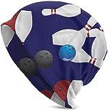 ZharkLI Geschenk – Damen Herren Beanie Hip-Hop Hut Stretch Slouchy Baggy Totenkopf Cap Bowlingball