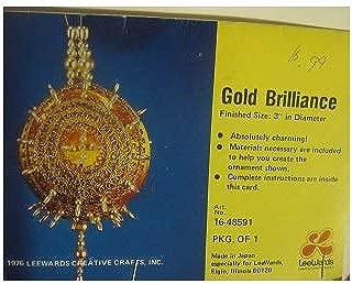 Vintage Lee Wards Gold Brilliance Beaded Ornament Kit